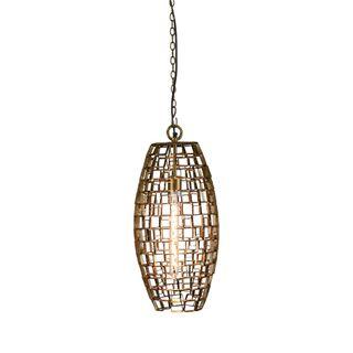 Dali Medium - Antique Brass - Medium Oval Geometric Pendant Light