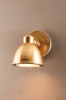 Panama Outdoor Wall Light Antique Brass