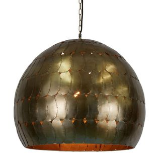 Pangolin Large - Pewter - Iron Scales Dome Pendant Light