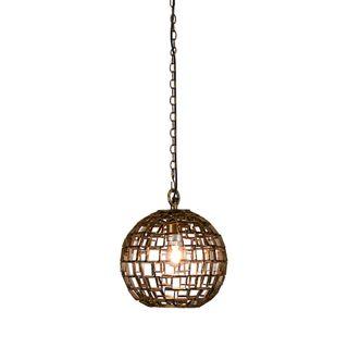 Mondrian Small - Antique Brass - Small Ball Geometric Pendant Light