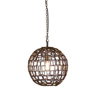 Mondrian Medium - Antique Brass - Medium Geometric Ball Pendant Light