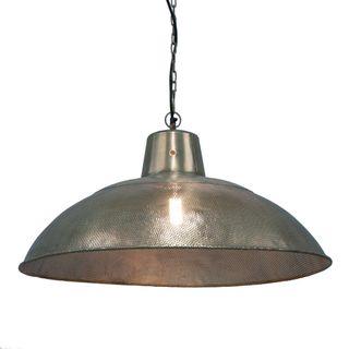 Riva Dish - Zinc - Perforated Iron Dish Pendant Light