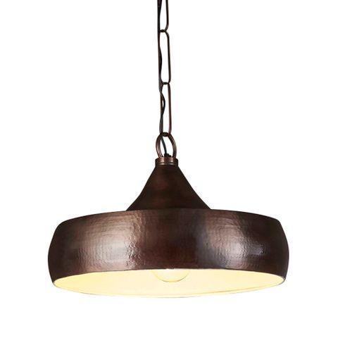 Lafayette Hanging Lamp in Dark Brass