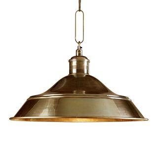 Palladium Hanging Lamp Antique Brass