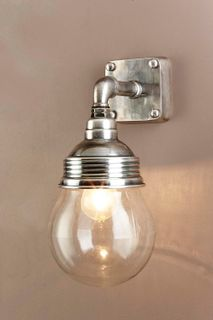 Dover Wall Lamp Antique Silver