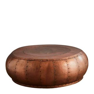 Omega Coffee Table Iron Riveted Antique Copper