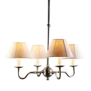 Milton 4 Arm Chandelier Base Silver