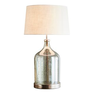 Lustre Flagon Table - Pale Green - Stone Effect Glass Flagon Table Lamp