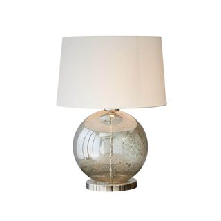 Lustre Ball Table - Pale Green - Stone Effect Glass Ball Table Lamp