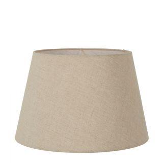 Linen Taper Lamp Shade Large Dark Natural