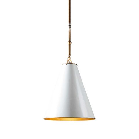 Monte Carlo Ceiling Pendant Small White and Brass