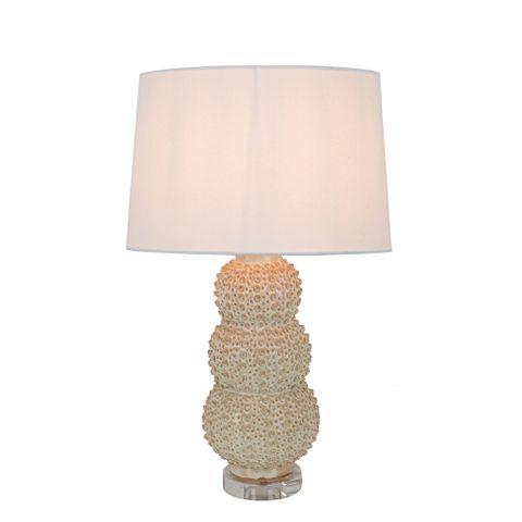 Sea Urchins Ceramic Table Lamp Cream