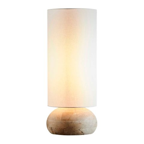 Pebble Large Base Only - Natural - Turned Wood Table Lamp Base Only