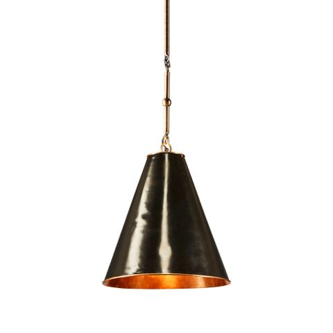Monte Carlo Ceiling Pendant Small Black and Brass