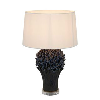Staghorn Coral Ceramic Table Lamp Base Blue