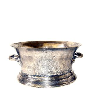 Oval Ice Bucket Medium Silver