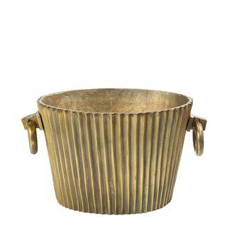 Oval Ice Bucket Dark Brass