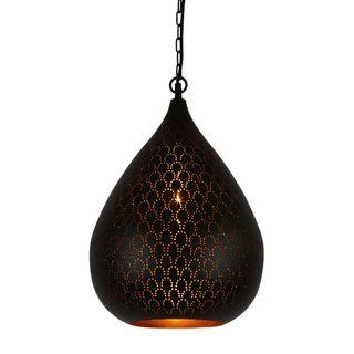 Taipan Perforated Teardrop Pendant Light Black