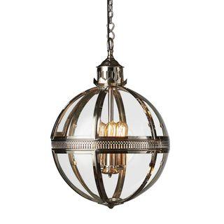 Saxon Pendant Lamp Med Shiny Nickel