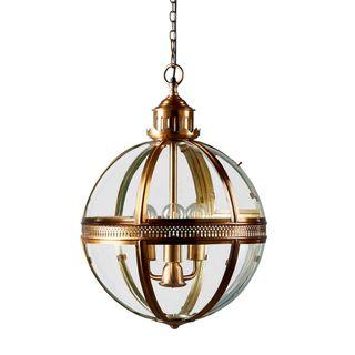 Saxon Ceiling Pendant Medium Antique Brass