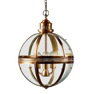 Saxon Pendant Lamp Lge Antique Brass