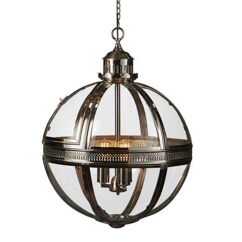Saxon Pendant Lamp Lge Shiny Nickel