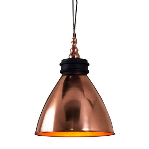 Sardinia Hanging Lamp in Copper