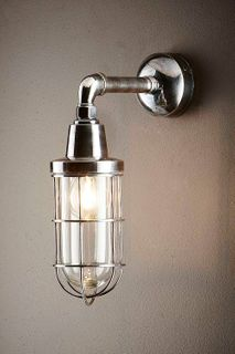 Starboard Wall Lamp Antique Silver