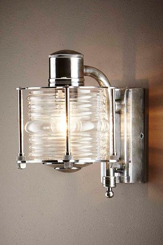 Yarra Wall Lamp Antique Silver