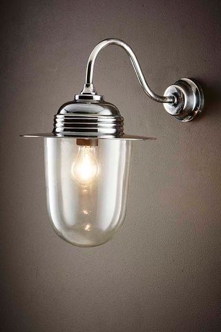 Stanmore Outdoor Wall Lamp Antique Silver