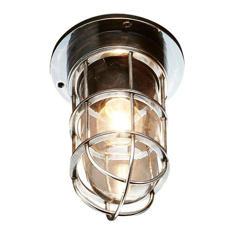 Emerald Outdoor Ceiling Lamp in Antique Silver