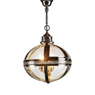 Oxford Hanging Lamp in Shiny Nickel
