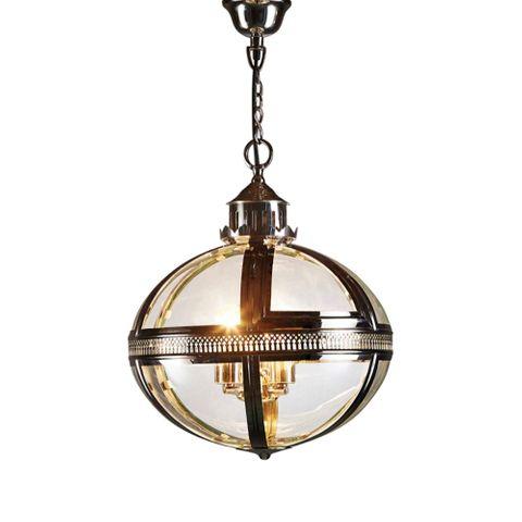 Oxford Ceiling Pendant Shiny Nickel