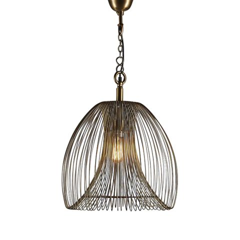 Baker Large Pendant Lamp in Gold