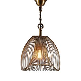 Baker Small Pendant Lamp in Gold