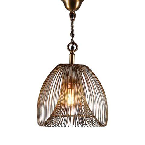 Baker Small Pendant Lamp in Gold