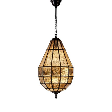 Portobello Glass Pendant Lamp in Black