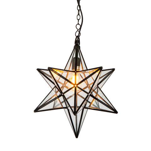 Star Ceiling Pendant Large Black