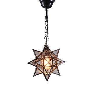 Star Ceiling Pendant Small Black