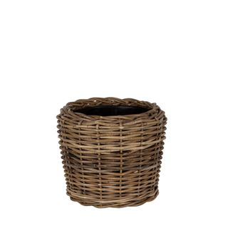 Round Rattan Basket Small Natural