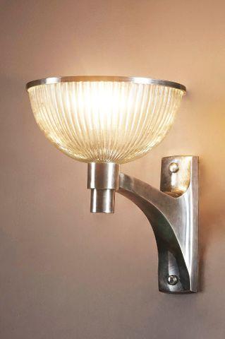 Astor Glass Wall Lamp Silver