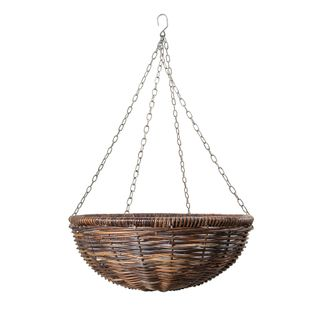 Rattan Hanging Planter Large