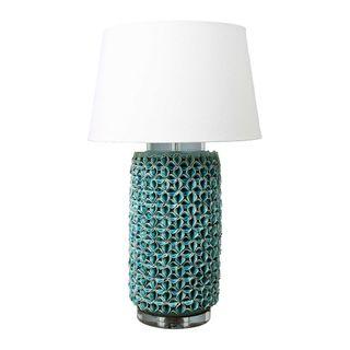 Wynberg Ceramic Table Lamp Base Turquoise