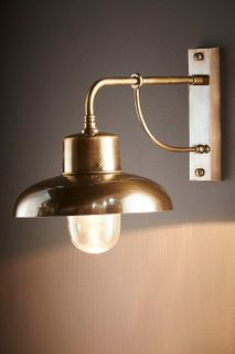 Bridgewater Outdoor Wall Lamp Brass