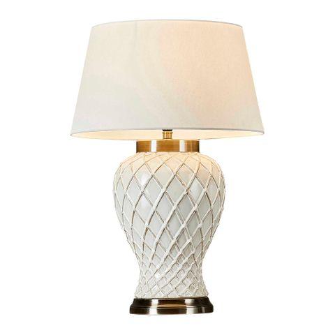 Berkley Table Lamp Base Ivory