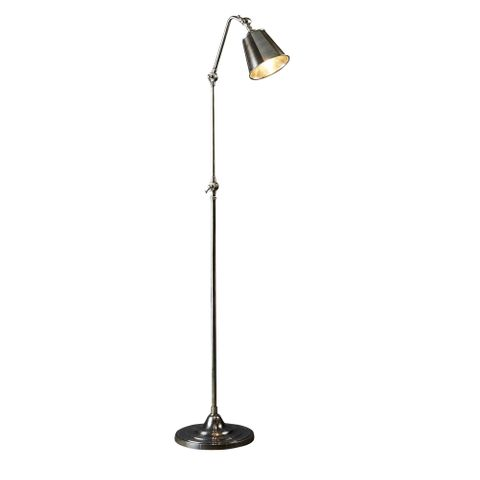 Newbury Floor Lamp Antique Silver