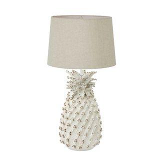 Pineapple Ceramic Table Lamp Base White