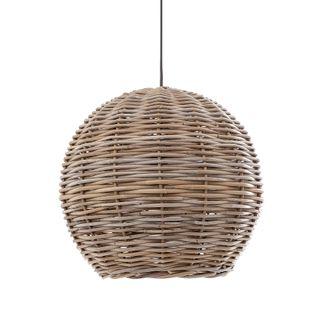 Rattan Round Ceiling Pendant Large Natural