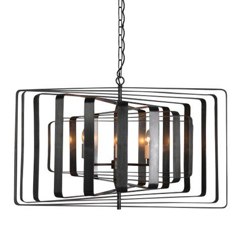 Tamarama Ceiling Light in Black Brass