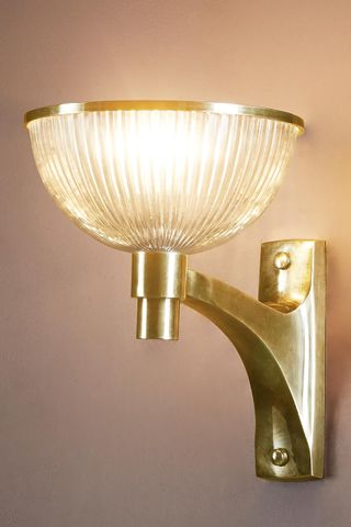 Astor Glass Wall Lamp Brass
